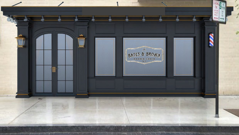 Bates Brown storefront rendering