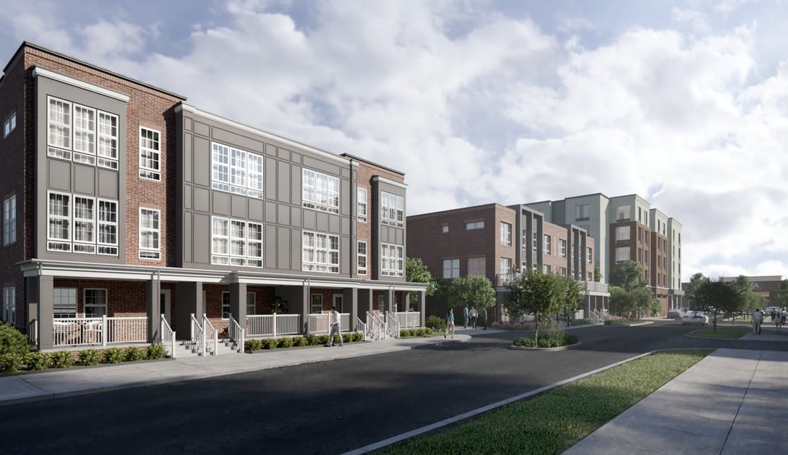 Rendering of Townhomes at Westmont at The Lane